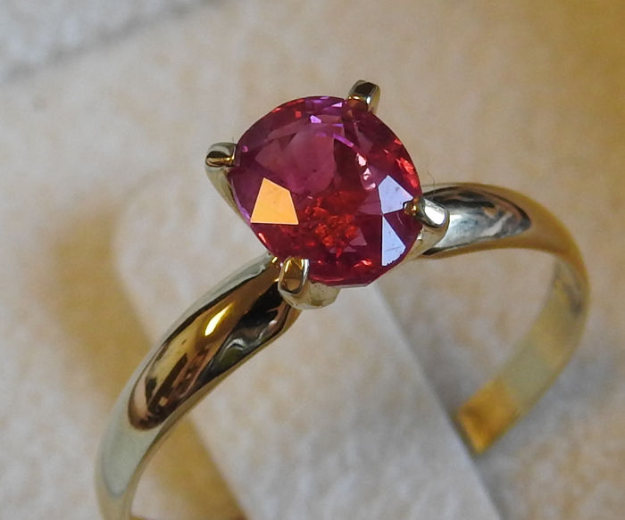 14K Ruby Solitaire Ring - No Reserve