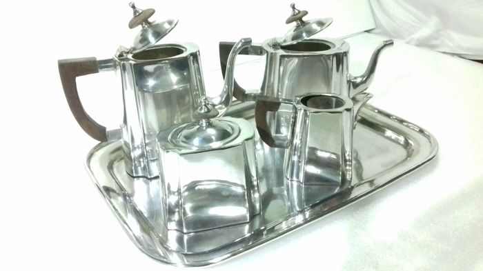 "Windsor- silver plated tea and coffee set ""jezler"" production 1930 Switzerland"