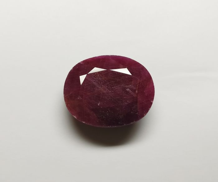 Ruby Dark Purplish Red ( Opaque ) 74.72 ct