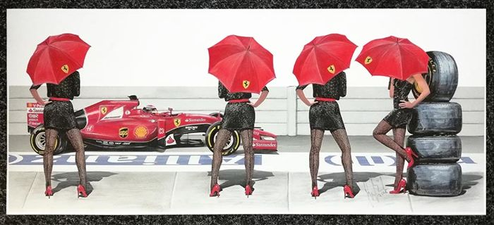 "Tribute to the F1 grid girls, The Ferrari ""Pit Cats"""
