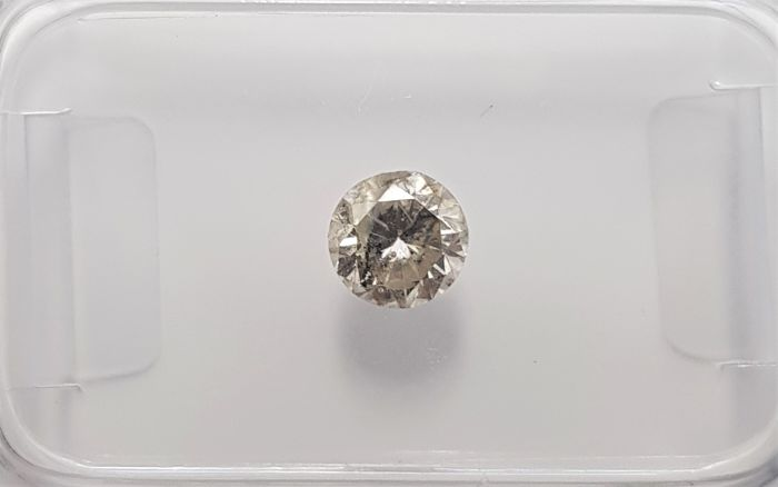 0.43ct Natural Round Brilliant Cut Diamond Fancy Light Yellow SI3 - No Reserve!