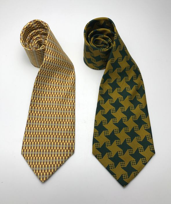 Hermes silk ties - Lot of 2