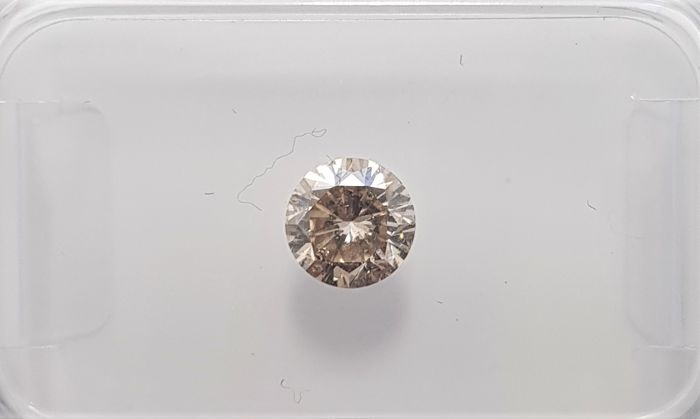 0.45ct Natural Round Brilliant Cut Diamond Fancy Light Brown SI1 - No Reserve!