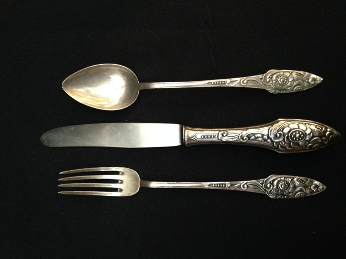 Silver Cutlery Set - Marked