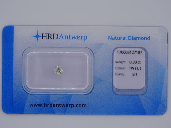0.30 ct brilliant cut diamond - Colour Tinted White (L) - SI1