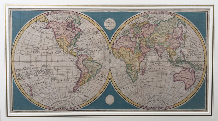 Wereld; Cook, James Anderson -  - The world with the latest discoveries - 1789