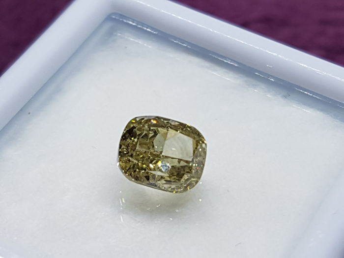 1,01 ct Dark Yellow Diamond VS2