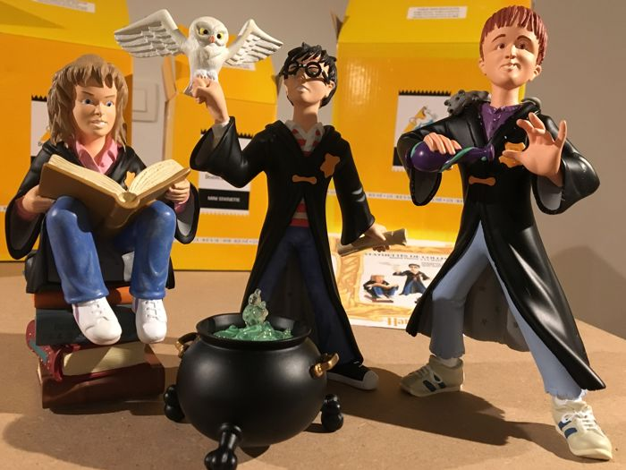 Figurines - Harry Potter, Hermione & Ron - Collectible figurines - 2001