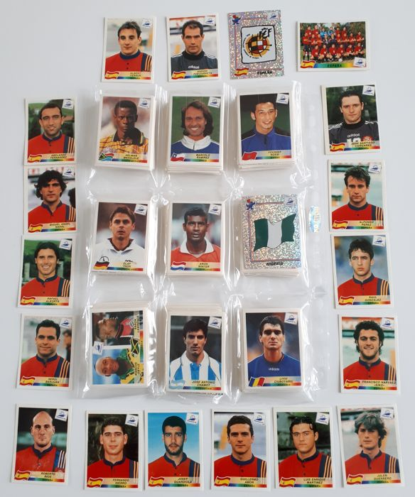 Panini - World Cup France 98 - Complete loose set of 561 pieces with black back!