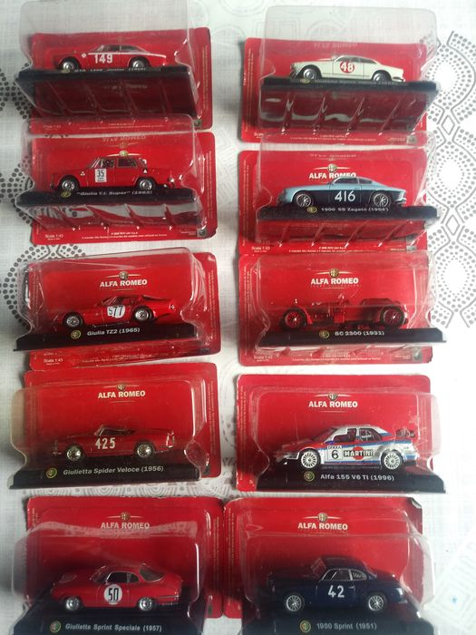 Altaya - Scale 1/43 - Lot with 10 models: 10 x Alfa Romeo