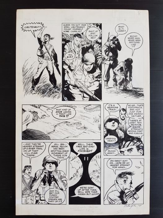 Bo Hampton - Original Art Page - Weird War Tales #62 - Page 8 - (1979)