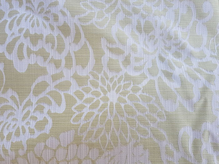 Large cut of damask reversible cloth - gold and silver, floral motif, in cotton and silk mix 6 x 1.5 mt