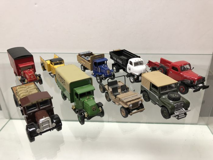 Matchbox Models of Yesteryear - Schaal 1/43 - Kavel met 9 modellen: Mack, Scammel, GMC, Jeep, Diamond & Land Rover