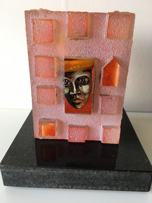 """Bertil Vallien voor Kosta Boda - """"Cube in the Box"""" (limited edition unica)"""