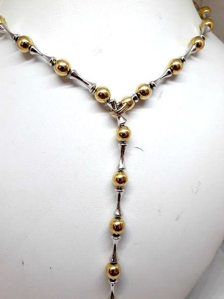 Chimento necklace in 18 kt yellow and white gold - length 54 cm
