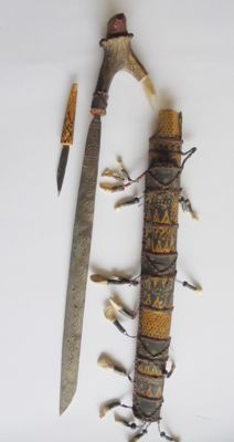 Headhunter sword, mandau - Dayak Kalimantan, Indonesia - second half 20th century