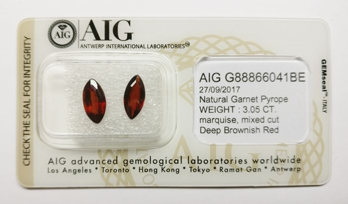 Pyrope Deep Brownish Red 3.05 ct *** No Reserve ***