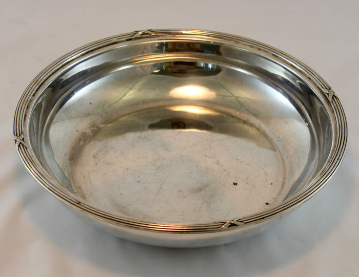 Antique silver plate dish, circa early 20th century