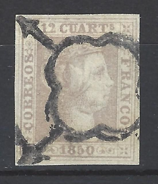 Spain 1850 - Isabel II. Value 12 Quarters - Edifil 2