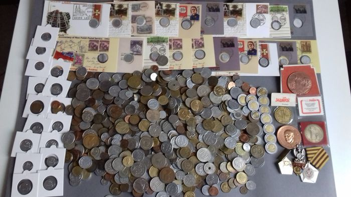 World - Lot various coins after 1940 (850 pieces)