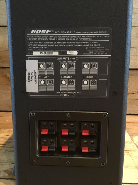 bose red line acoustimass 7 bose rotatable twin speakers with wall rh auction catawiki com Acoustimass 7 Series Bose Acoustimass 7 Home Theater Speaker System Model 100