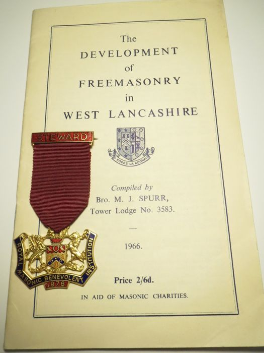 Royal Masonic Benevolent Institution 1976+The Development of Freemasonry in west Lancashire 1966