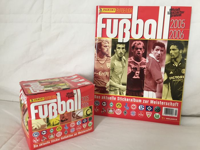 Panini - Fussball Bundesliga 2005 - Empty Album + Full Sealed Box.