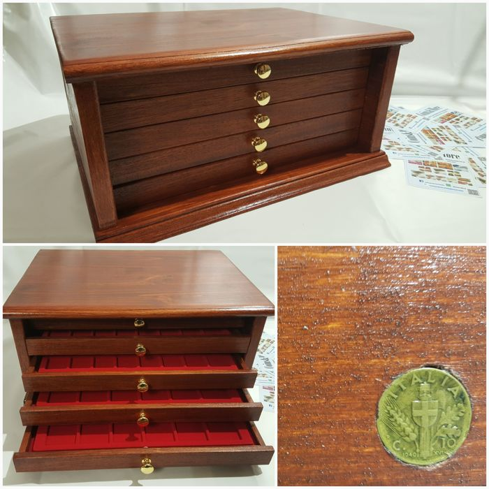 5 drawer coin cabinet NO RESERVE - Made in Italy  realizzato a mano