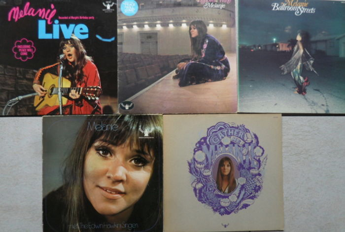 Melanie : 4 X1 LP  and 1 X 2LP  Including  2 Rare Dutch Pressings