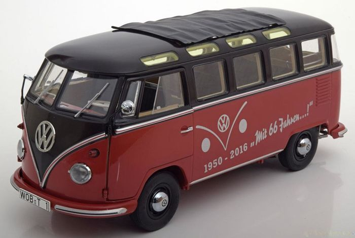schuco scale 1 18 volkswagen t1 samba 66 jahre. Black Bedroom Furniture Sets. Home Design Ideas