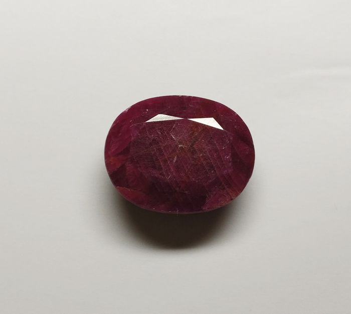 Ruby Dark Purplish Red ( Opaque ) 74.06 ct