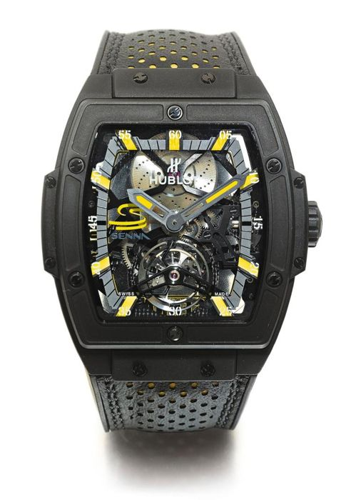Hublot - Senna Tourbillon Masterpiece MP 06 limited 41 pcs - 906.ND.0129.VR.AES12 - Heren - 2011-heden