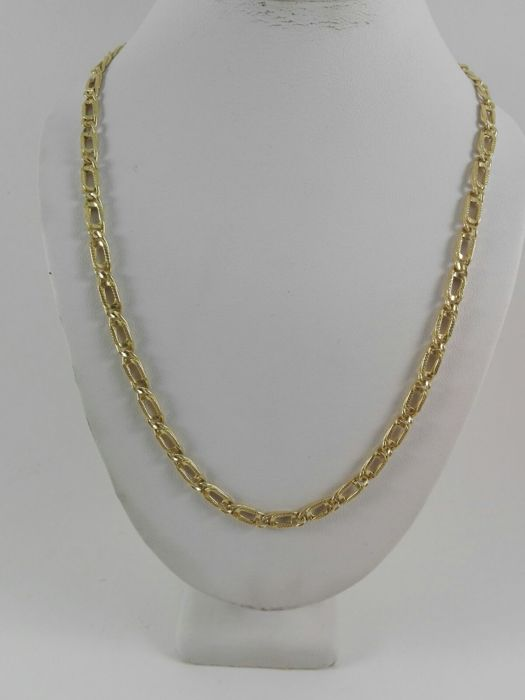 18 kt yellow gold men's necklace  Weight: 10.9 g