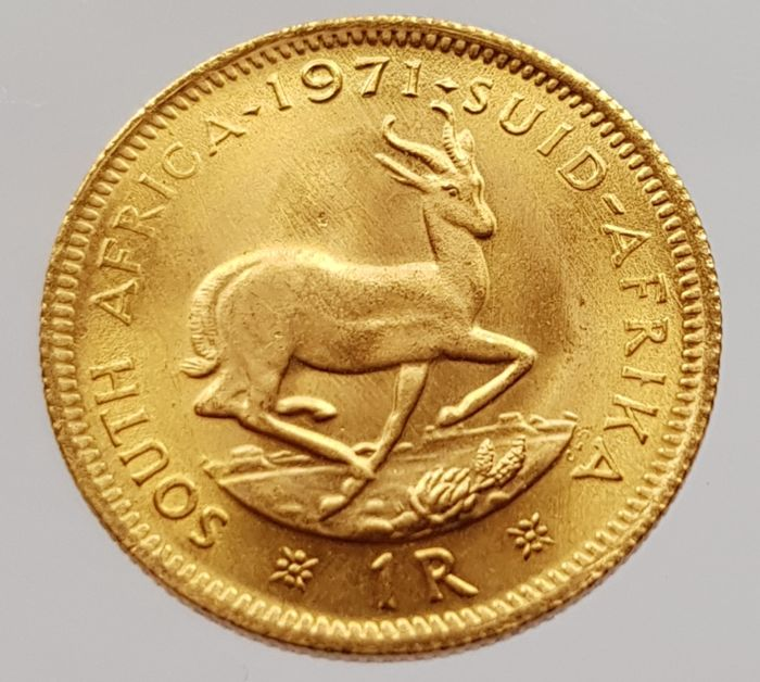South Africa - 1 Rand 1971 - gold