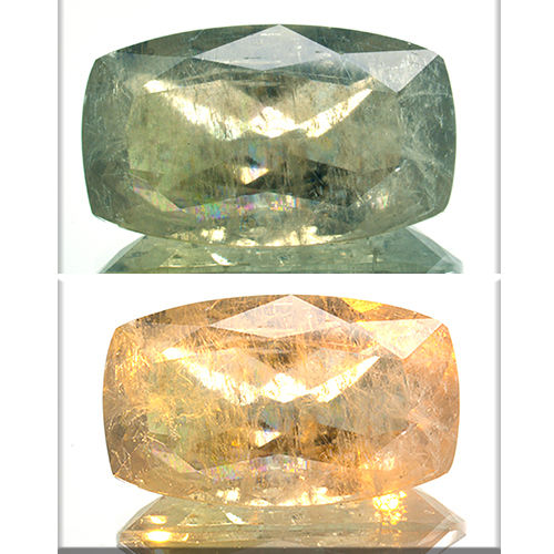 Change Color Yellow-Green Diaspore - 15.17 ct.