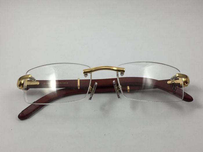7cc1a5f6b85 Cartier - Rosewood glasses Vintage Óculos - Catawiki