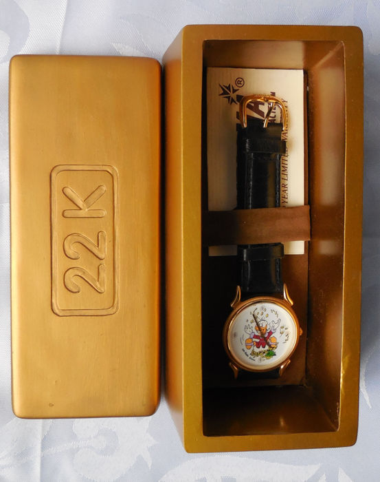 Disney - Scrooge McDuck Watch - Limited Edition - Personally Signed Carl Barks COA (1997)