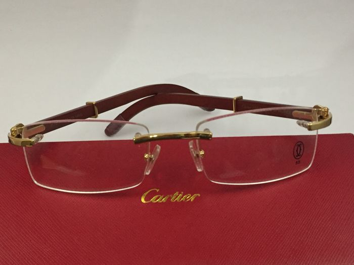 c513886f398f4 Cartier - Rosewood glasses Vintage Glasses - Catawiki