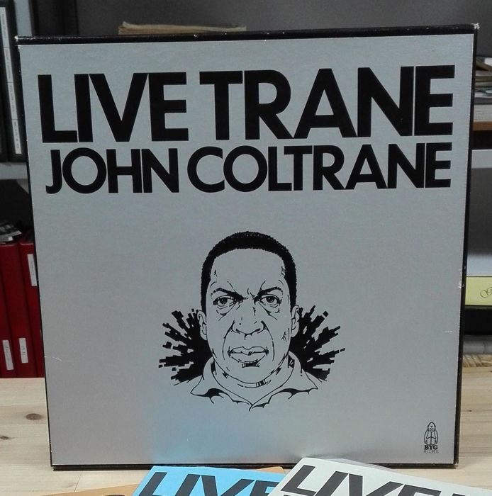 "John Coltrane ""Live Trane"" - Blues, Jazz Music set of 3 LP,"