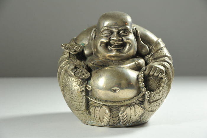 Relaxed Buddha Maitreya - bronze - China - late 20th century