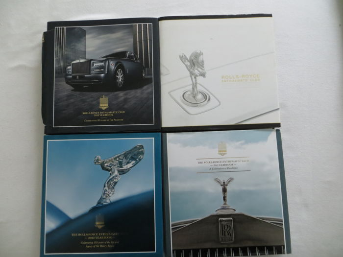 4 yearbooks from the Rolls-Royce Enthousiasts`Club 2010-2015