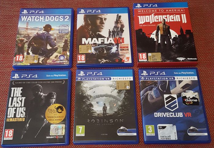 Lot Of 6 PS4 Games Like Watch Dogs 2 Driveclub