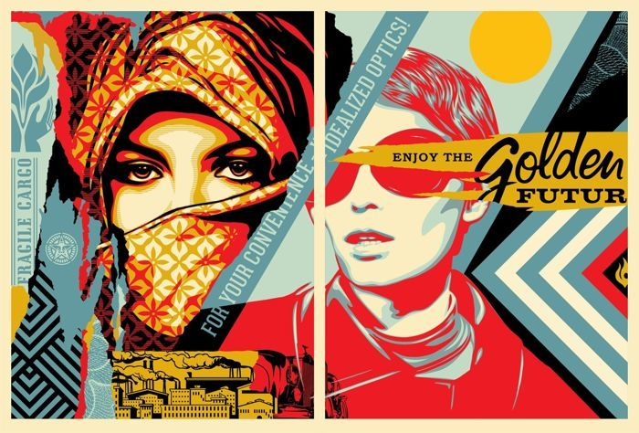 Shepard Fairey (OBEY) - Golden Future For Some