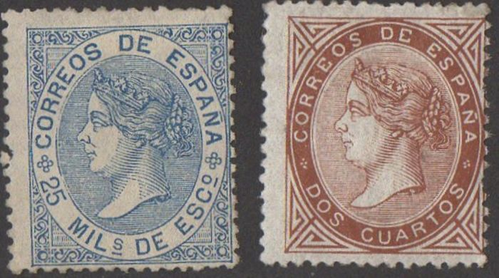 Spain 1867/1868 - Isabel II - Edifil 87, 97