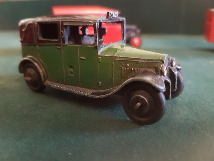 Prewar 1936 36G  Great Britain Postal Van Green on Black Unusual and Rare in colour with driver