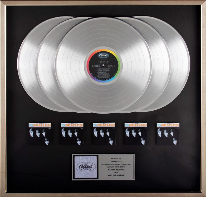 "The Beatles - 5x Multi-Platinum Award for ""Meet the Beatles"""