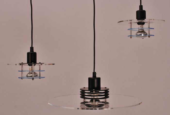 Designer Unknown For Design Light Set Of Three Pendant Lights - Set of three pendant lights