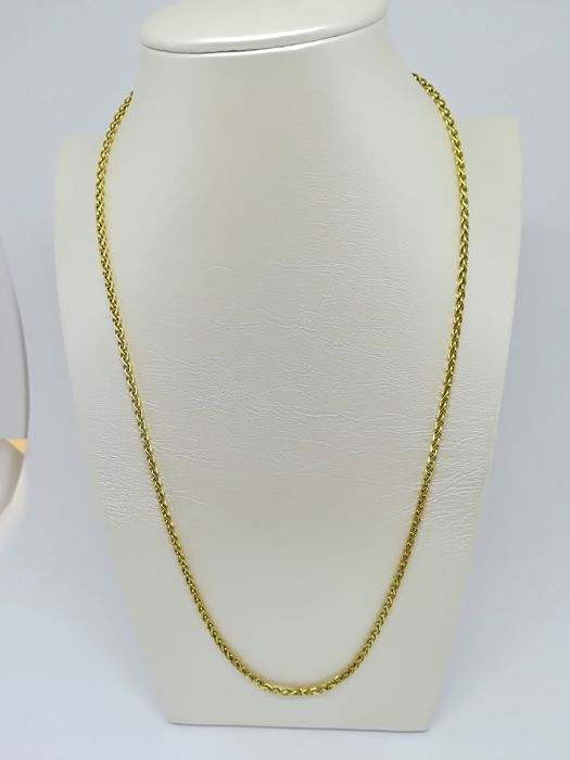 Yellow gold necklace (18 kt) - Weight   12.26 g - Length  48 cm