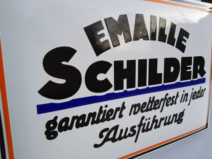 """Emaille schilder"" - Advertising for sign manufacturer"