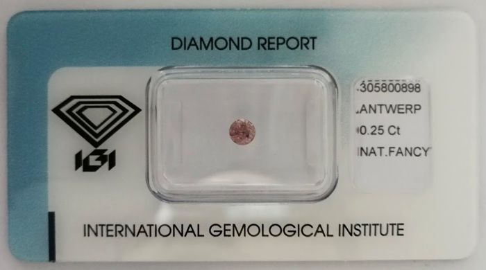 Natural Fancy Intense Greyish Pink Diamond 0.25 ct  with IGI cert *** no minimum price***